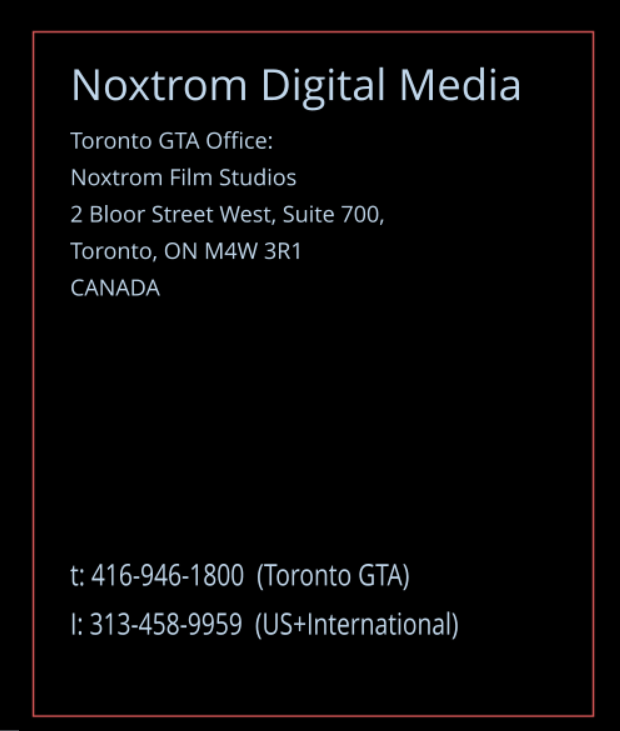 Contact NOXTROM Digital Media Inc.